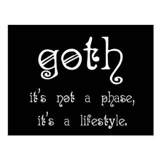 Goth: Es ist nicht eine Phase, es ist ein Postkarte