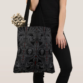 Goth graue Verzierung mit dem Schädel Tasche