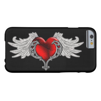 Goth Herz mit Engel Wings iPhone 6 Fall Barely There iPhone 6 Hülle