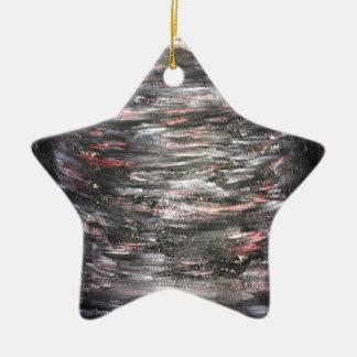 Goth Nebel Keramik Stern-Ornament