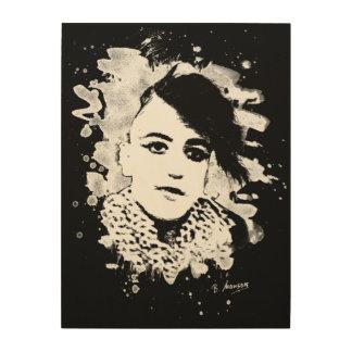 Goth Punk Girl Holzwanddeko