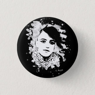 Goth Punk Girl Runder Button 3,2 Cm