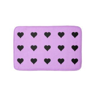 Goth rosa und schwarzer Herz-Entwurf Badematte