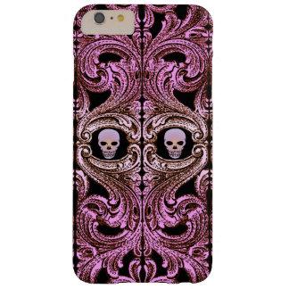 Goth rosa Verzierung mit dem Schädel Barely There iPhone 6 Plus Hülle