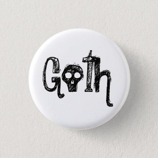 Goth Runder Button 2,5 Cm