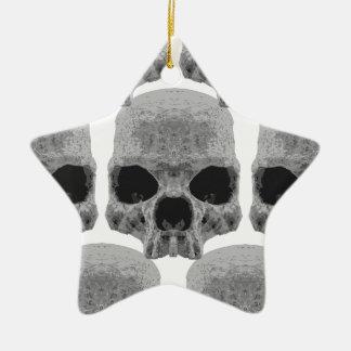 goth Schädel Keramik Stern-Ornament
