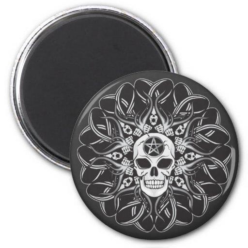 Goth Schädel Kühlschrankmagnete