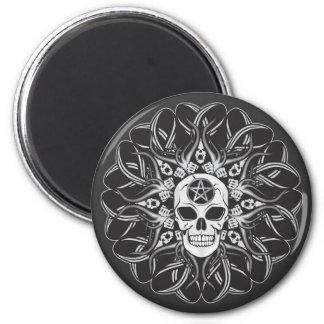 Goth Schädel Runder Magnet 5,1 Cm