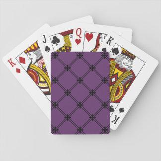Goth schwarzes und lila diagonales Muster Spielkarten