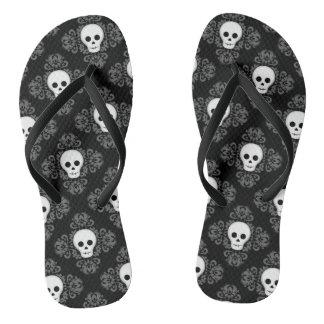 Goth Sommer-Schädelmuster Flip Flops
