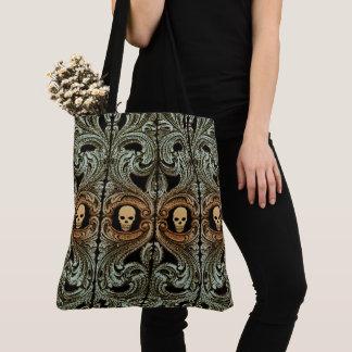 Goth weises Grün-Verzierung mit dem Schädel Tasche
