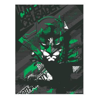 Gothams Caped Kreuzfahrer Postkarte