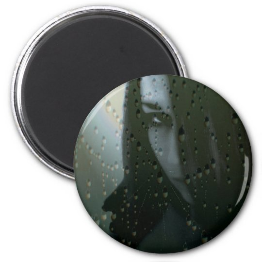 GothicGirl Runder Magnet 5,7 Cm