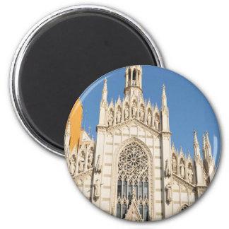Gotische Architektur in Rom, Italien Runder Magnet 5,1 Cm
