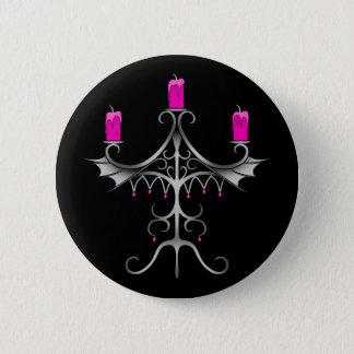 Gotische Artkandelaber Runder Button 5,1 Cm