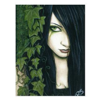 Gotische Efeu-Fantasie-Postkarte Postkarte