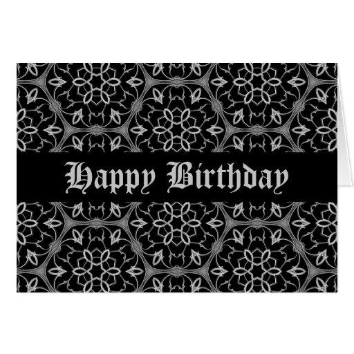 Gotische Eleganz alles Gute zum Geburtstag Grußkarte