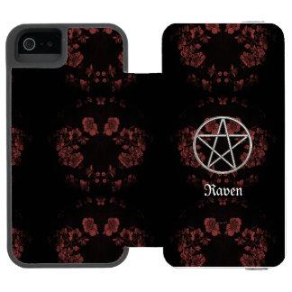 Gotische ewige Pentagramm-Malvenfarbe Incipio Watson™ iPhone 5 Geldbörsen Hülle