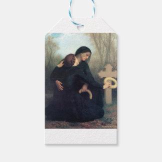Gotische Frauen Bouguereau des schwarzen Geschenkanhänger