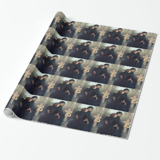 Gotische Frauen Bouguereau des schwarzen Geschenkpapier