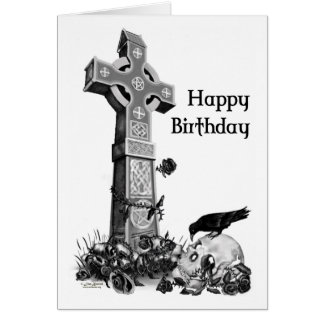 Gotische Geburtstags-Karte Grußkarte