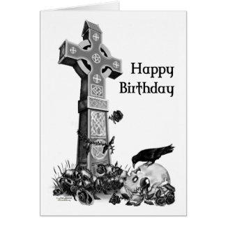 Gotische Geburtstags-Karte Karte