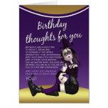 gotische Geburtstagskarte - Geburtstag thaughts Grußkarte