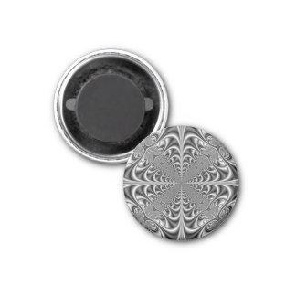 Gotische Geometrie im einfarbigen Magneten Runder Magnet 2,5 Cm