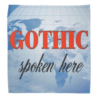 Gotische gesprochene hier bewölkte Erde Halstuch