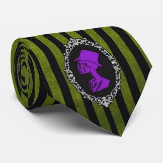 Gotische grüne und lila Krawatte
