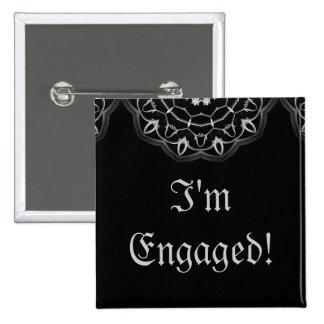 Gotische Hochzeit elegantes Save the Date verlobte