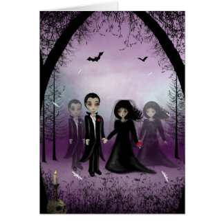 Gotische Hochzeits-Gruß-Karte Grußkarte