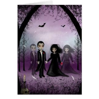 Gotische Hochzeits-Gruß-Karte Karte