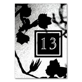 Gotische Hochzeits-Schwarz-weiße Karte