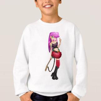 Gotische Jugendliche mit Gitarre Sweatshirt