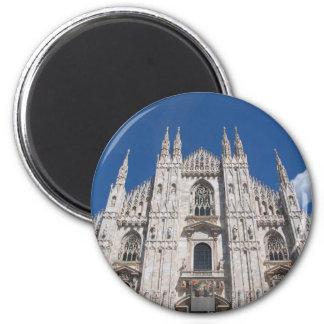 Gotische Kathedralen-Kirche Mailand Italien Runder Magnet 5,7 Cm