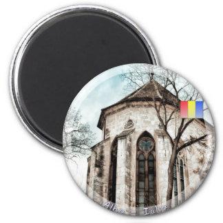 Gotische Kirche Runder Magnet 5,7 Cm