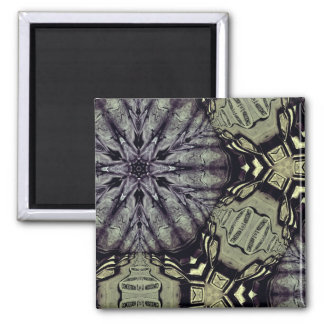 Gotische Krypta-Mandala Quadratischer Magnet