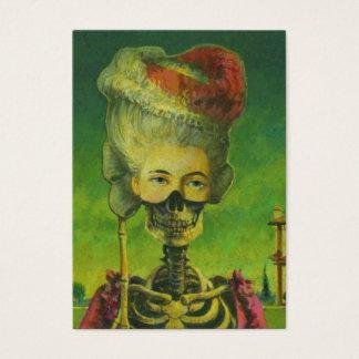 Gotische Künstler-Trading Cards des Skelett-ACEO Visitenkarte