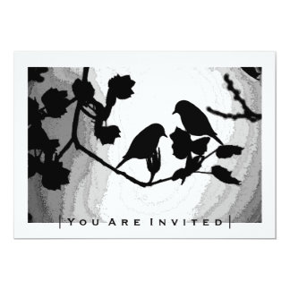 Gotische Liebe-Vogel-Silhouetten, die Einladungen