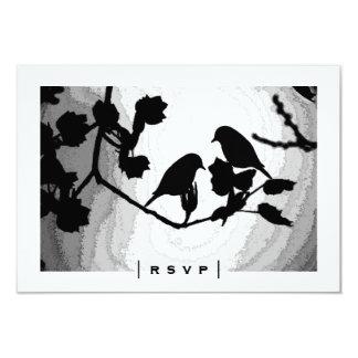 Gotische Liebe-Vogel-Silhouetten UAWG Karten Karte