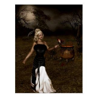 Gotische Mädchen die Botepostkarte Postkarte