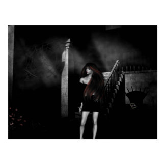 Gotische Mädchen gehen nie in allein… Postkarte