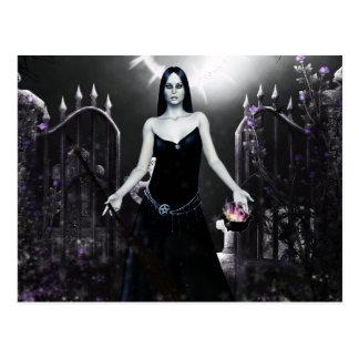 Gotische Mädchen-Werkzeuge des Handels Postkarte
