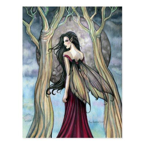 Gotische Nachtfeenhafte Postkarte durch Molly Harr