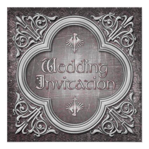 Gotische oder mittelalterliche Hochzeits-Einladung