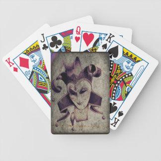 Gotische Renaissance-schlechter Clown-Joker Bicycle Spielkarten