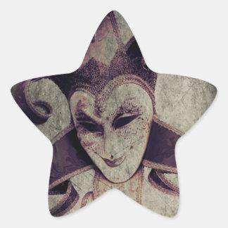 Gotische Renaissance-schlechter Clown-Joker Stern-Aufkleber