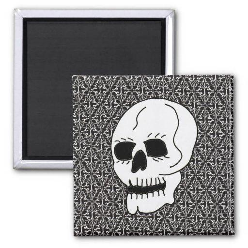 Gotische Rolle und Schädel Magnete