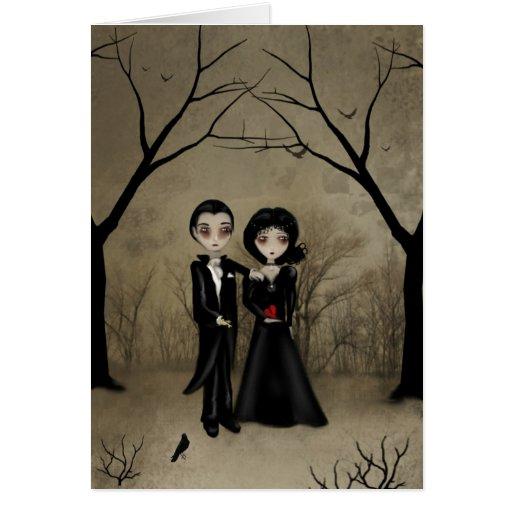 Gotische Romance Gruß-Karte